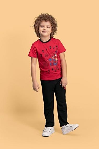 Spider-Man Spider Man Lisanslı Mavi Erkek Çocuk Pijama Takımı Kırmızı